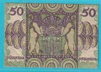 Notgeld 2000 Hamburgo 50 Peniques De 1920