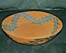 "Vintage 1987 David Salk, Ceramicist, Clay Basket / Bowl Design 10"" Across"