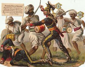 Die Cut scraps  Artist Harry Payne-VC Heroes. Sgt Hartigan -Indian Mutiny(Sc53)