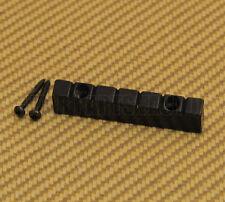 NUT-N-2BK Black 6-string Lap Steel Style Guitar Raised Nut w/ Screws 47mm