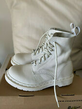 NEW White Dr Martens 1460 Pascal Virginia Mono 8 Eyelet Boots - 5/38 - RRP £149