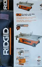 RIDGID 7 in. Heavy Duty Table Top Wet Tile Saw 6.5 Amps 1-1/4 HP