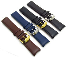 Smooth Grain Leather Watch Strap *CURVED ENDS* 18mm - 24mm Choose Colour c103