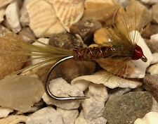 4 Size 10 Red headed UV micro fritz olive cruncher Trout Flies