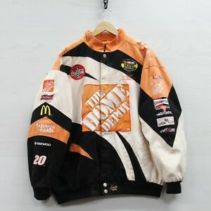 Vintage Tony Stewart #20 Home Depot Chase Canvas Racing Jacket Size XL NASCAR