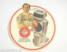 VECCHIO ADESIVO / Old Sticker GILLES VILLENEUVE COMPUTER REEL GIOCATTOLO (cm 11)