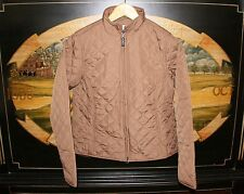 Womens Small Brown Quilted Golf Jacket Cutter & Buck unfinished logo