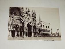 NAYA / VENISE VENEZIA 1870 Piazza San Marco  VINTAGE Albumen Print Photo Foto
