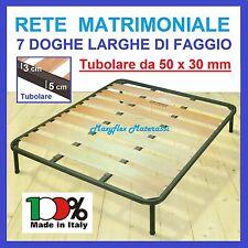 Reti Casa, Arredamento E Bricolage Rete Ortopedica A Doghe Matrimoniale Letto 160x190 Altezza 35cm Tubolare 50x25