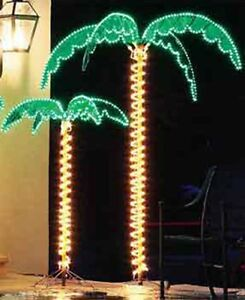 7 FOOT DELUXE LED LIGHTED PALM TREE