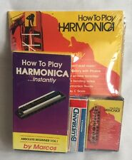 How To Play Harmonica Instantly Book VHS Cassette Tape Absolute Marcos Bluesband