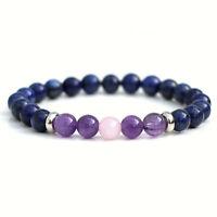 Lapis Lazuli Amethyst Rose Quartz Bracelet