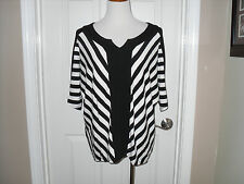 Mew Chico's Opposite Stripes Cori Colorblock Top Size 2 (12-14) Large NWT