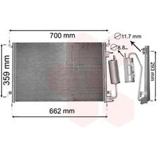 Kondensator Klimaanlage - van Wezel 37005397
