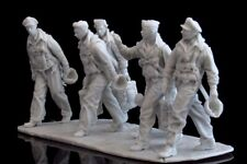 AC Models USAAF B25 Mitchell Crew 6 figures + base WW2 1/32nd Unpainted kit
