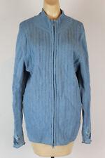 Covington Womens Cardigan Size 18 XL Blue Zip Up Sweater J
