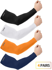 KMMIN Arm Sleeves, SUN UV Protection Ice Sleeves for Driving Cycling Golf Warmer