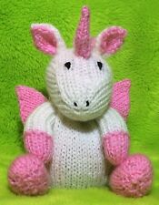 KNITTING PATTERN - Fairytale Unicorn chocolate orange cover / 16 cms pony toy