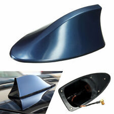 Blue Car Shark Fin Roof Antenna FM/AM Radio Signal Aerial Decoration Universal