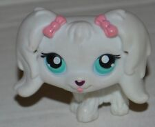 2004 littlest pet shop white  dog WITH PINK BOW