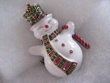 """HEIDI DAUS """"Snowman Dandy"""" Vintage-Look Snowman Pin (Orig.$149.95)"""