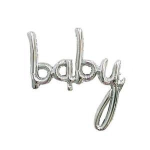 "Baby Shower Gender Reveal Silver ""Baby"" Balloon Banner - 80cm x 105cm"