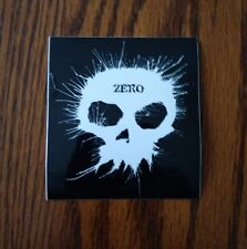 Zero Skateboards The Blowing Ink Skull Logo Square Skateboard Sticker