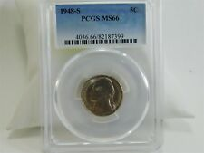 1948-S PCGS MS66 5C Jefferson Nickel Uncirculated Certified Coin MC1615