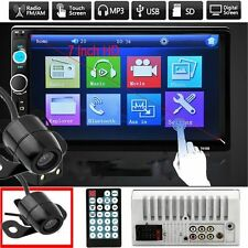 "Camera + 7"" HD Touch Screen 2DIN Car Radio Audio In-Dash Stereo MP5 Player US VP"