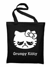 Grumpy Kitty Jutebeutel Fun Beutel Stoffbeutel Baumwolltasche Hello Katze Cat