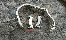 24mm BRUSHED BRACELET + TWO SILVER ADAPTER FIT CITIZEN BJ8050 ECOZILLA ECO-ZILLA