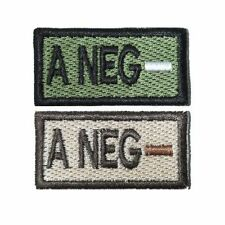 A- A Neg Self-Adhesive Blood Patch in Olive and Tan 1x2in
