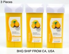Roll On Hot Depilatory Wax Cartridge Warmer Lemon Waxing Hair Removal 3Pcs