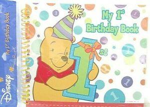 My 1st Birthday Book Winnie Pooh Disney baby book memory keepsake album new