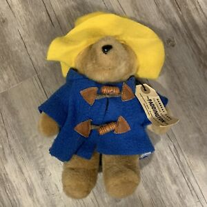 "Vintage Paddington Bear Stuffed Animal 1975 1988 Eden Toys 9"" Plush Korea"