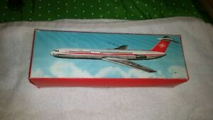 Intercontinental Airlines friction airplane made in German Democratic Republic