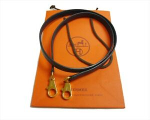 Authentic HERMES Shoulder strap Kelly  Leather #5371