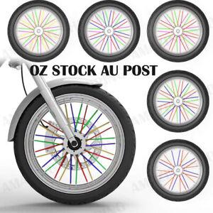 72Pcs Spoke Wrap Kit 4 BMX Mountain Moto Bike Bicycle MTB Wraps Skins Covers