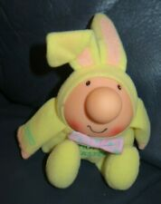 "Vintage 1984 Ziggy Hoppy Easter Bunny Dressed Vinyl Head  6"" Plush Body"