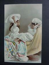 FANTAISIES Enfant old postcard vintage fantasy enfants bataille d'oreillers