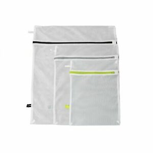 Calitek Zipped Mesh Net Laundry Clothes Washing Bags Underwear Bra Socks 3 Sizes
