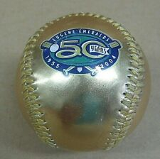 Rare 50th Anniversary Gold Souvenir Baseball Eugene Emeralds NWL Fotoball