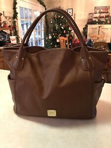 "DOONEY & BOURKE Kristen Tote, Chestnut Brown,  HUGE 20"" Wide,lovely!"