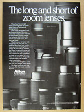 1986 Nikon NIKKOR Zoom Lenses Lens photo vintage print Ad