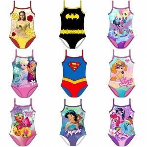 Girls Swimming Costume Swimsuit Swimwear Character 2-6 Years