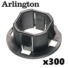 "Arlington 300 Pack 4401 Plastic 3/4"" Snap-In Bushings for Knockouts Black"