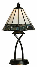 TIFFANY STYLE UNIQUE STAINED GLASS DESK TABLE LAMP - 7.87'' WIDE