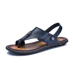 Mens Summer Slippers Clip Toe Shoes Flip Flps Casual Comfy Beach Sandals