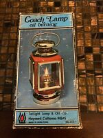 Coach Lamp Oil Burning Twilight Co Hayward Ca Made In Hong Kong Old Vintage Look