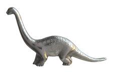 Diplodocus Dippy Dinosaur Pin Badge in Polished English Pewter